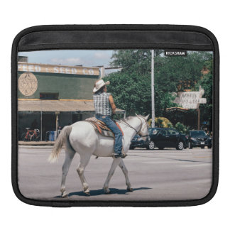 Horse Riding on South Congress Ave iPad Sleeve