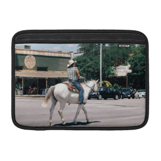 Horse Riding on South Congress Ave MacBook Air Sleeve