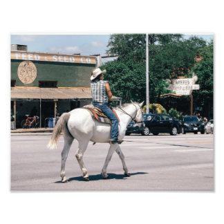 Horse Riding on South Congress Ave Photo Print
