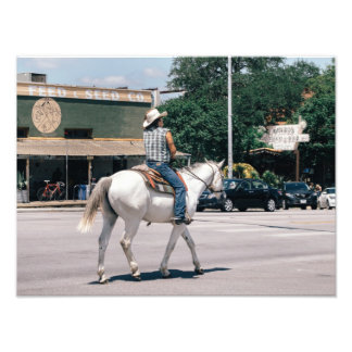 Horse Riding on South Congress Ave Photographic Print