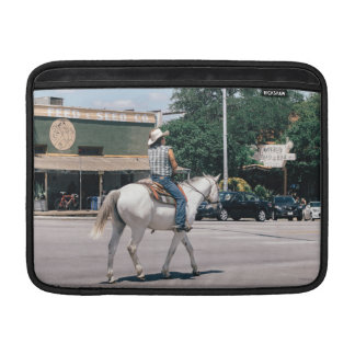 Horse Riding on South Congress Ave Sleeves For MacBook Air