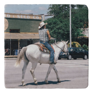 Horse Riding on South Congress Ave Trivet