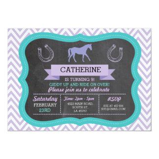 Horse Riding Party Invite Pony Invitation Invite