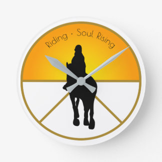 Horse Riding Soul Rising Round Clock