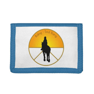 Horse Riding Soul Rising Trifold Wallet