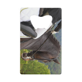 Horse riding wallet bottle opener