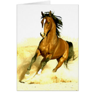 Horse Running Card