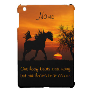 Horse Running Free at Sunset Cover For The iPad Mini