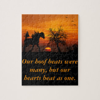 Horse Running Free at Sunset Puzzle