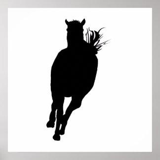 Horse Running Silhouette Print