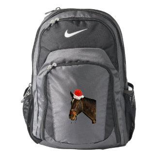 Horse santa - christmas horse - merry christmas backpack