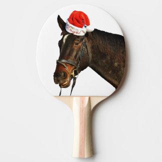 Horse santa - christmas horse - merry christmas ping pong paddle