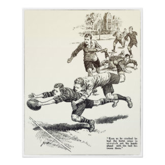 Horse Sense - Vintage Rugby Archival Print