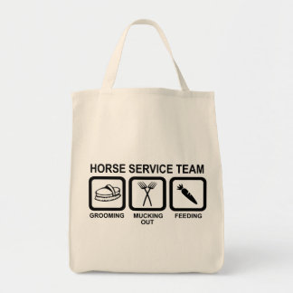 horse service team tote bag