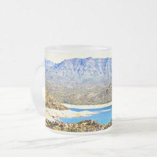 Horse Shoe Lake Glass Frosted Mug