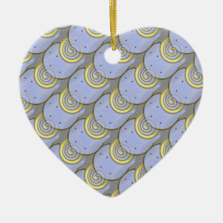 Horse Shoe Pattern with Template Ceramic Heart Ornament