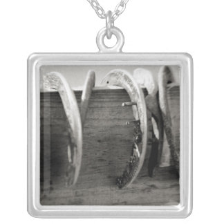 Horse Shoes Silver Plated Necklace