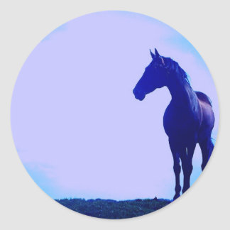Horse Silhouette Design Sticker