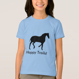 horse-silhouette, Happy Trails! T-Shirt