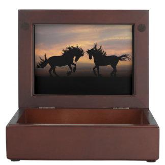 Horse Silhouette Keepsake Box