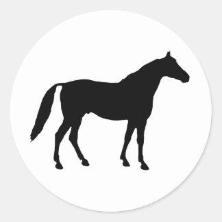 Horse Silhouette Round Sticker