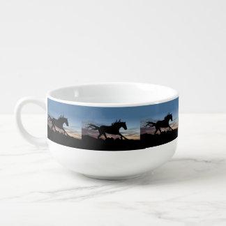 Horse Silhouette Soup Mug