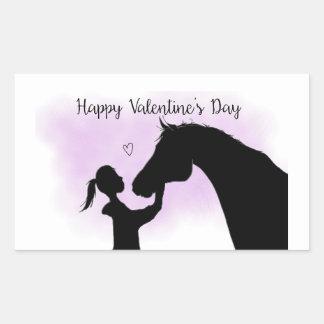 Horse Silhouette Valentine's Day sticker