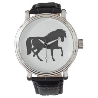 Horse Silhouette Wrist Watch