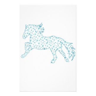 Horse snowflake new year  , white snowstorm personalized stationery