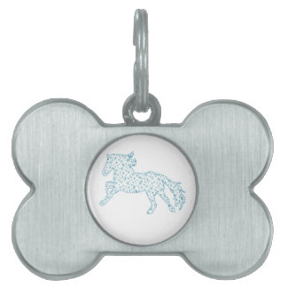 Horse snowflake new year  , white snowstorm pet name tag