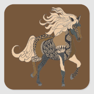 Horse Square Sticker