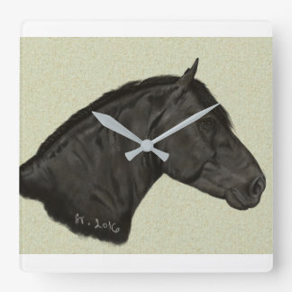 Horse Square Wall Clock
