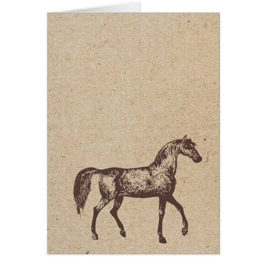 horse stamped card