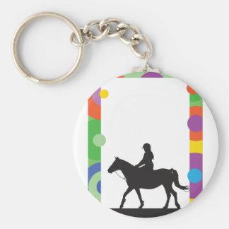 Horse Standing Basic Round Button Keychain