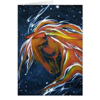Horse Star Constellation Greeting Card