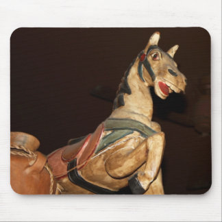 Horse Statue and Decor at Mexican Restaurant Photo Mouse Pad