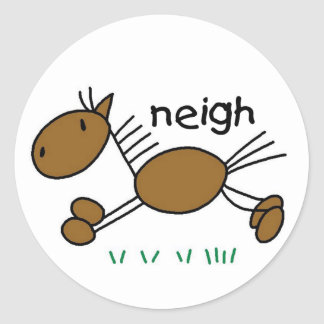 Horse Stick Figure Sticker