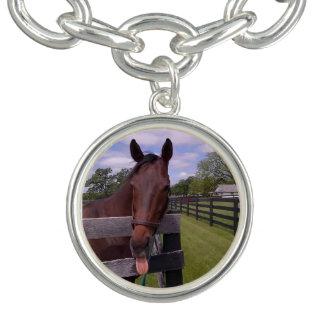 Horse Sticking Tongue Out Charm Bracelet