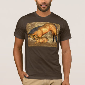 Horse T Shirt Mother And Foal, Fine Art Print T