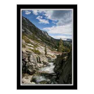 Horse Tail Falls Down Stream Poster