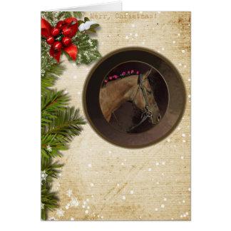 Horse Theme Christmas Card & Envelope; Customize!