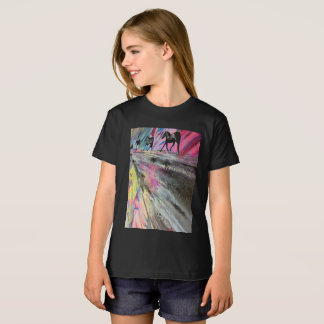 Horse Theme in Vivid Colors T-Shirt