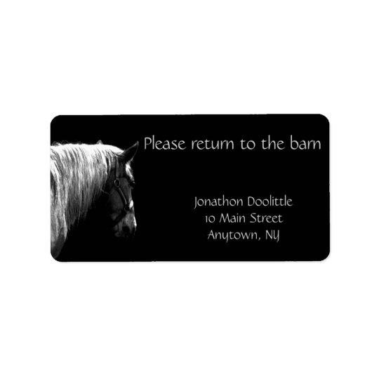 Horse to Barn Bookplate Label