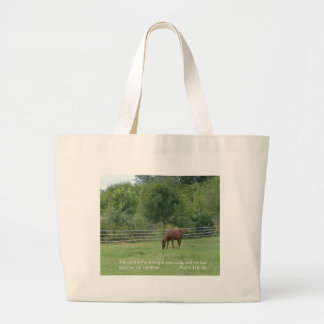 Horse Tote Bag with scripture