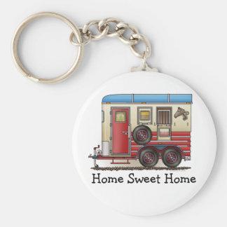 Horse Trailer Camper Basic Round Button Keychain