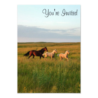 Horse Twins Mare and Foals Horse Babies Invitation