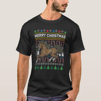Horse Ugly Christmas Sweater Wildlife Series