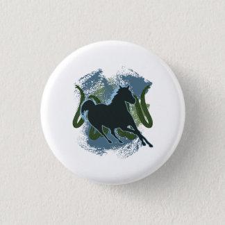 Horse v1 1 inch round button