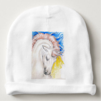 Horse Watercolor Art Baby Beanie