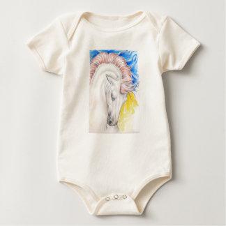 Horse Watercolor Art Baby Bodysuit
